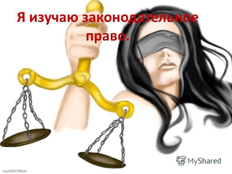 Я изучаю законодательное право.
