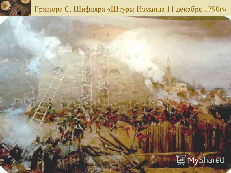 Гравюра С. Шифляра «Штурм Измаила 11 декабря 1790 г»