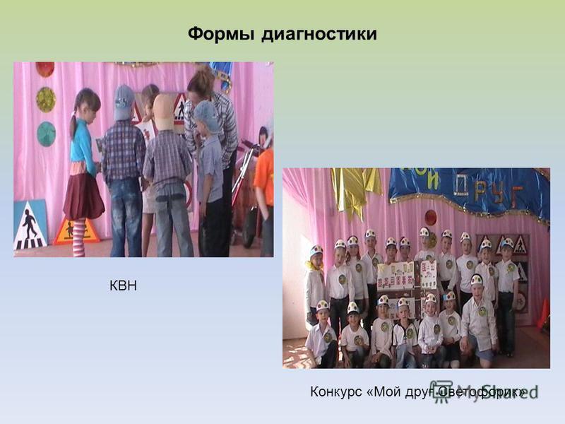 Формы диагностики КВН Конкурс «Мой друг Светофорик»