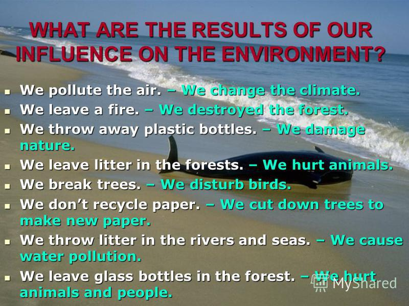 Land, air, water are important for flowers, trees, animals, birds, fish and people. But whats happening now? AirWater Land A lot of rivers and lakes are pollutedA lot of rivers and lakes are polluted Sea animals are hurtSea animals are hurt Air pollu