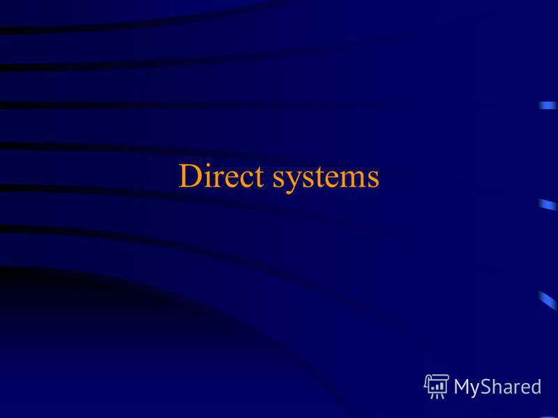 Direct systems