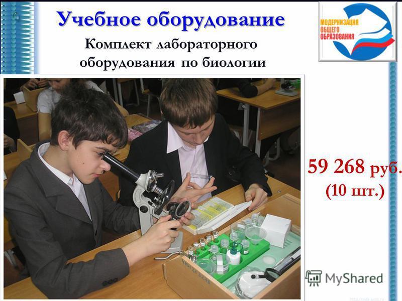 Учебное оборудование Комплект лабораторного оборудования по биологии 59 268 руб. (10 шт.)