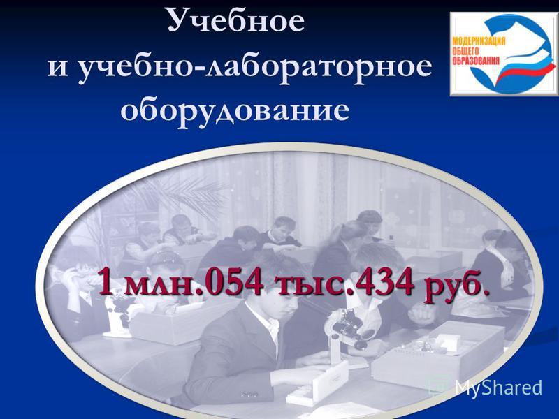 Учебное и учебно-лабораторное оборудование 1 млн.054 тыс.434 руб.