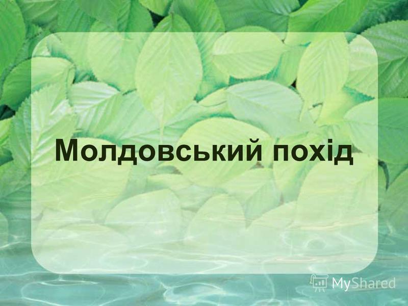 Молдовський похід