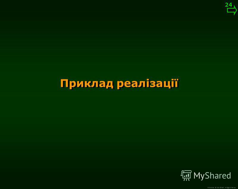 М.Кононов © 2009 E-mail: mvk@univ.kiev.ua Виведення готового зображення 23 03-0