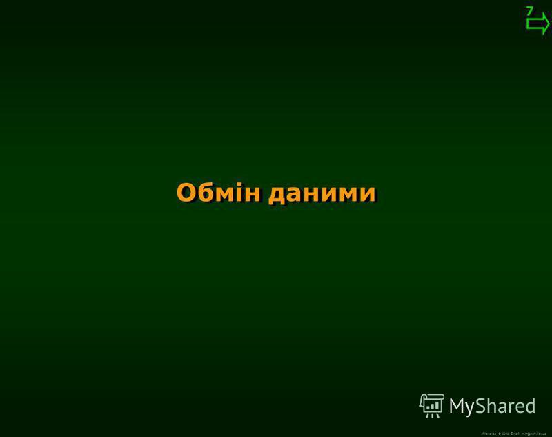 М.Кононов © 2009 E-mail: mvk@univ.kiev.ua Немодальний виклик Модальніий і немодальний виклики 6 6 01-2