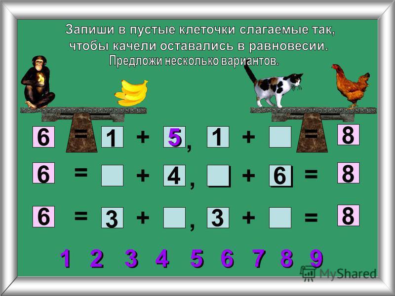 +6 8 + ++ ++ 6 6 8 8 1 1 5 5 4 3 3 6 = = = = = =,,, 7 7 5 5 2 2 3 3 1 1 4 4 6 6 8 8 9 9