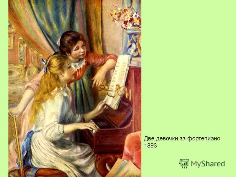Две девочки за фортепиано 1893