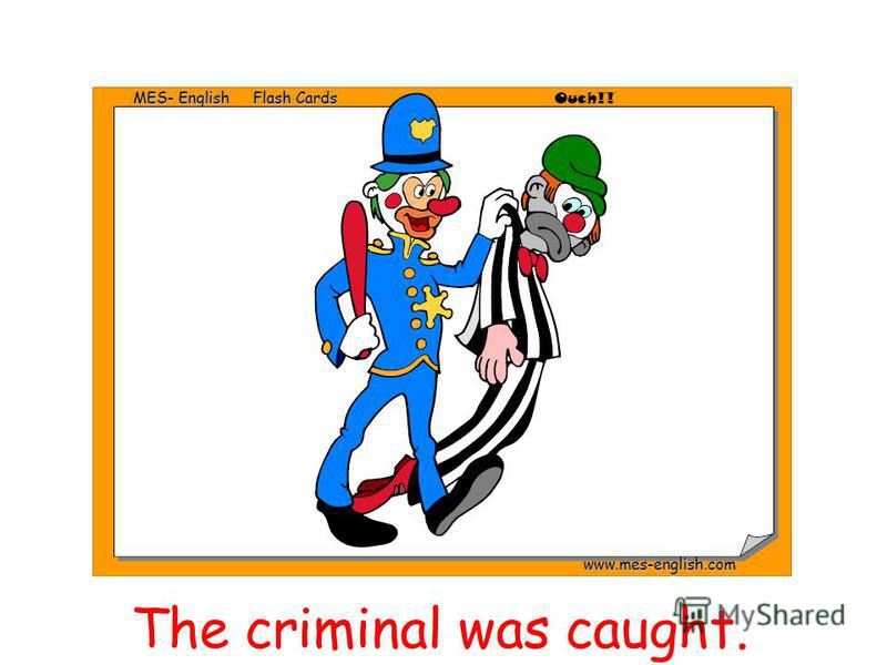 The criminal was caught.