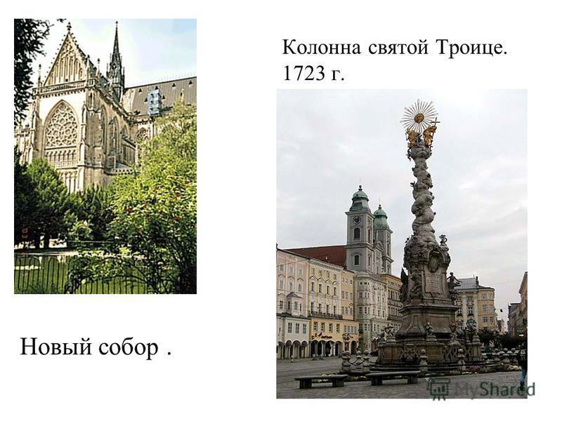 Новый собор. Колонна святой Троице. 1723 г.