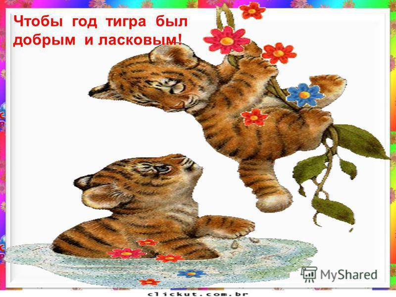 Чтобы год тигра был добрым и ласковым!