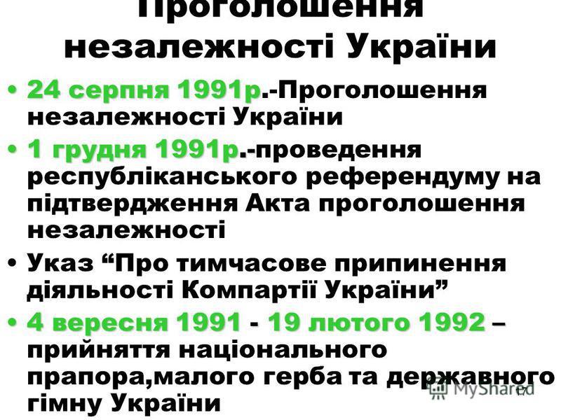 16 ДКНС і Україна Підтримку заколотників оголосили керівники багатьох рад усіх рівнів Представники Руху та демократичних партій запропонували засудити заколот спеціальним рішенням Президії Верховної Ради УРСР Заклик Народного руху створювати організа