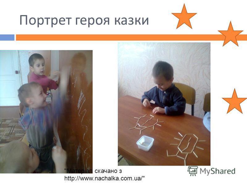 Портрет героя казки Матеріал скачано з http://www.nachalka.com.ua/