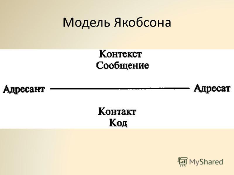 Модель Якобсона