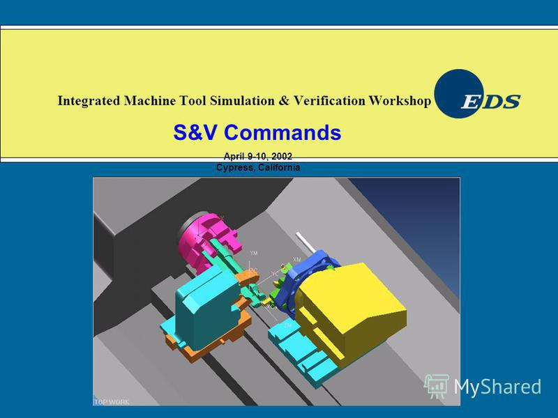 Integrated Machine Tool Simulation & Verification Workshop S&V Commands April 9-10, 2002 Cypress, California