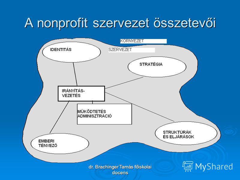 dr. Brachinger Tamás főiskolai docens A nonprofit szervezet összetevői