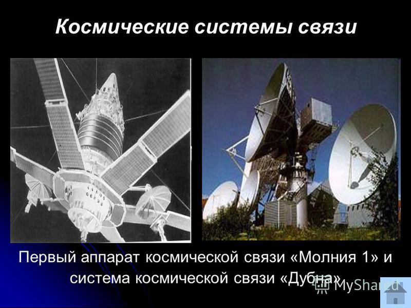 Космические системы связи Первый аппарат космической связи «Молния 1» и система космической связи «Дубна»
