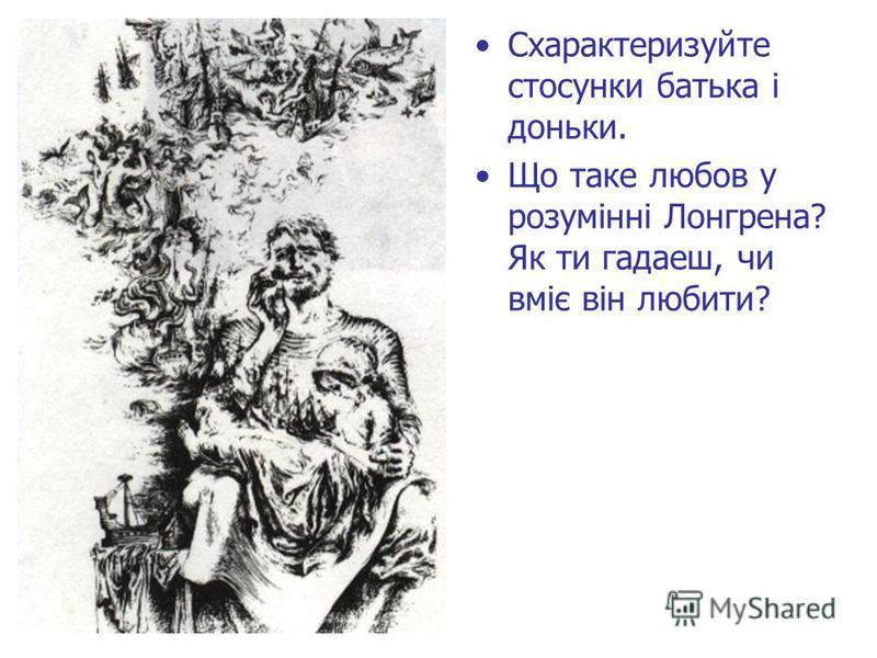 Схарактеризуйте стосунки батька і доньки. Що таке любов у розумінні Лонгрена? Як ти гадаеш, чи вміє він любити?