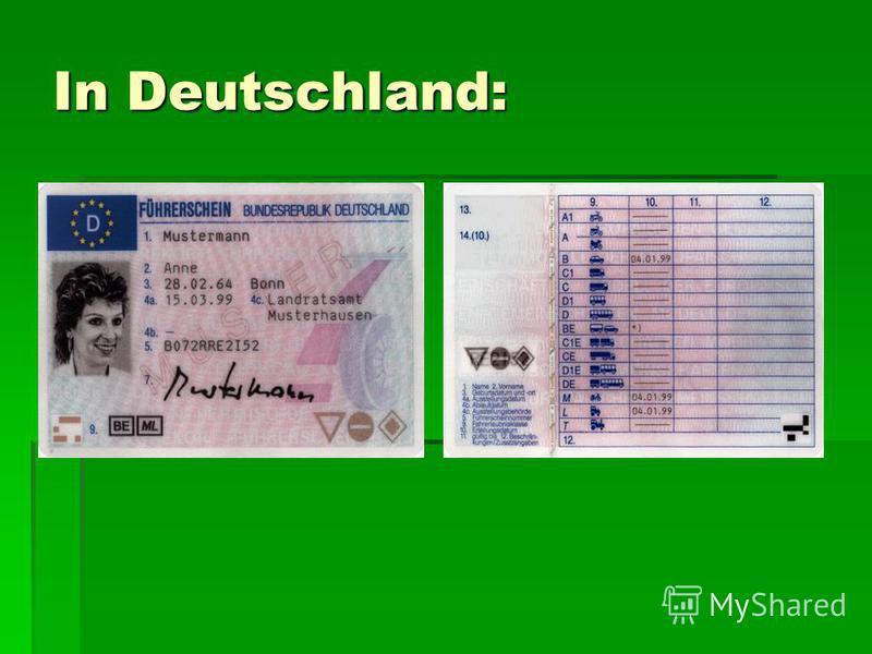 In Deutschland: