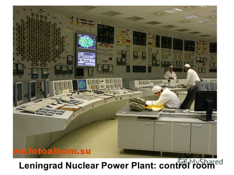 Leningrad Nuclear Power Plant: control room