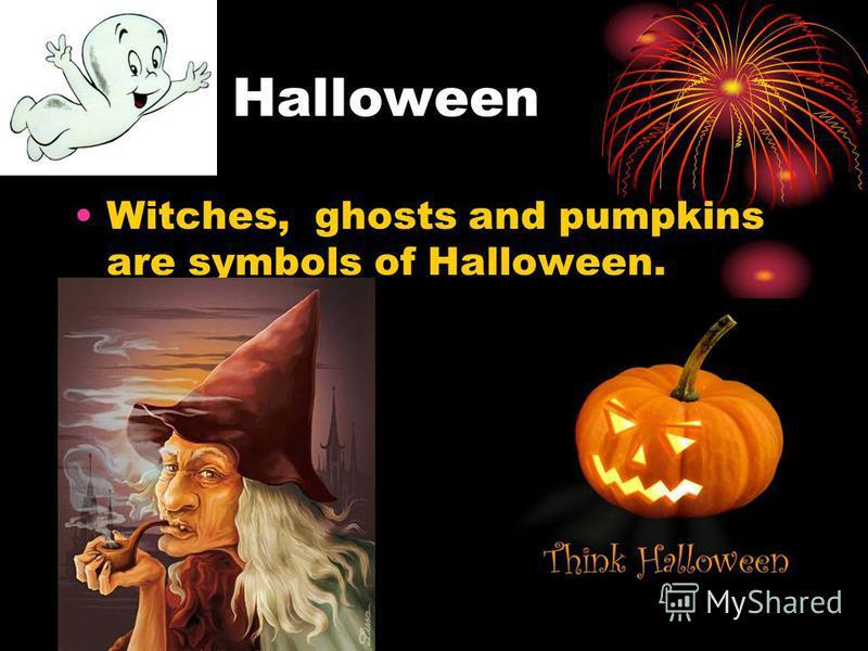 Halloween Witches, ghosts and pumpkins are symbols of Halloween.