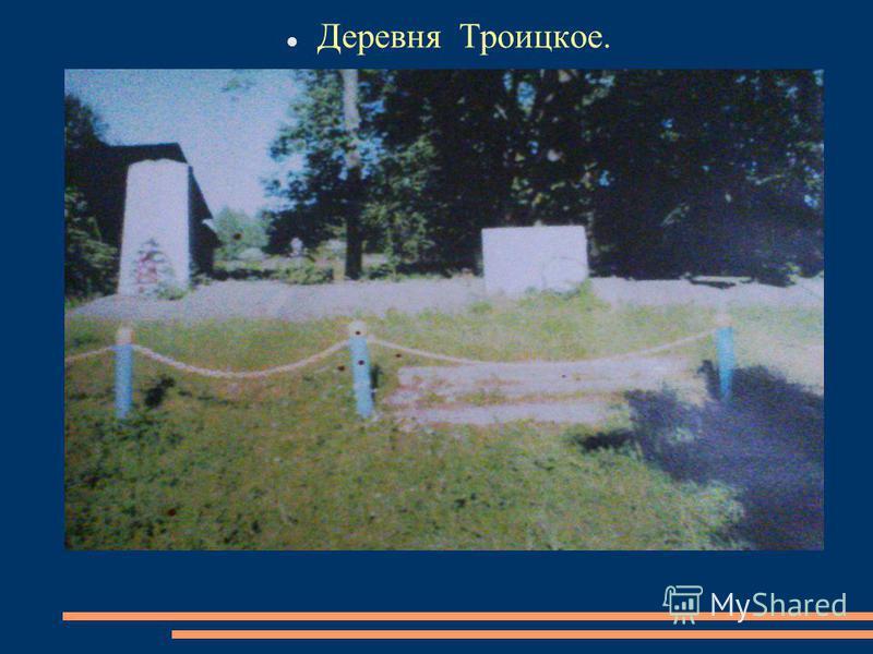 Деревня Троицкое.