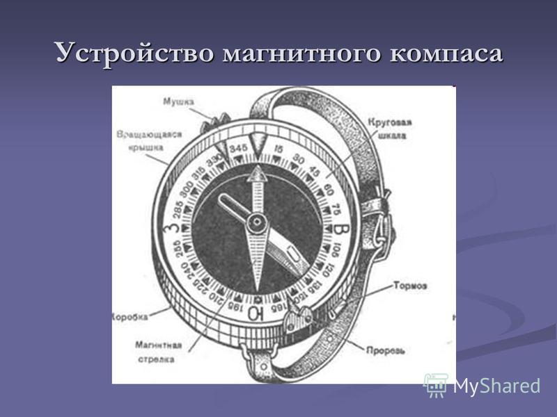 Устройство магнитного компаса