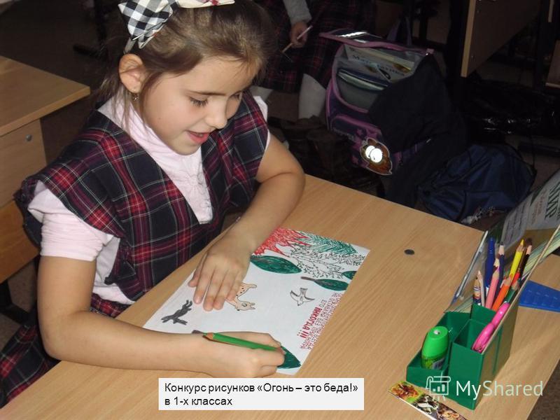 Конкурс рисунков «Огонь – это беда!» в 1-х классах