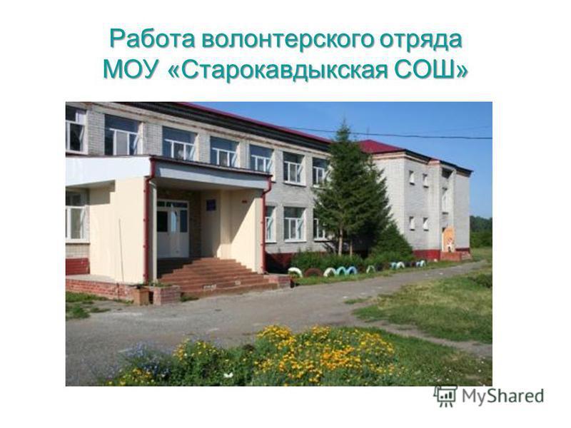 Работа волонтерского отряда МОУ «Старокавдыкская СОШ»