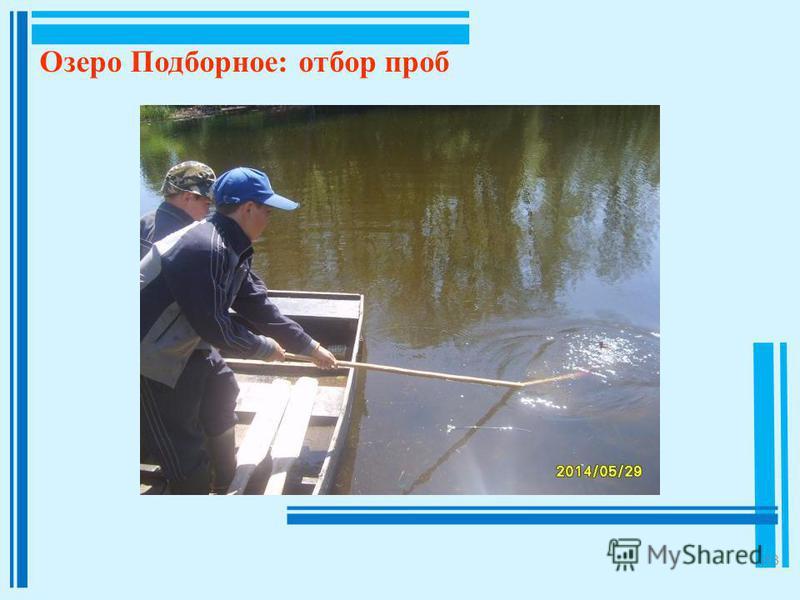 13 Озеро Подборное: отбор проб