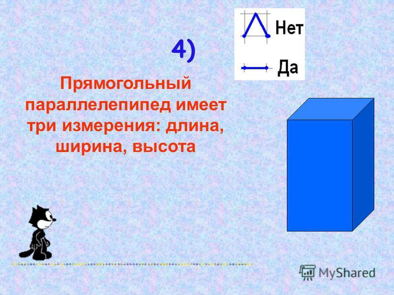 3) Площадь грани куба со стороной 2 см равна 4 см 2 2 см S-?