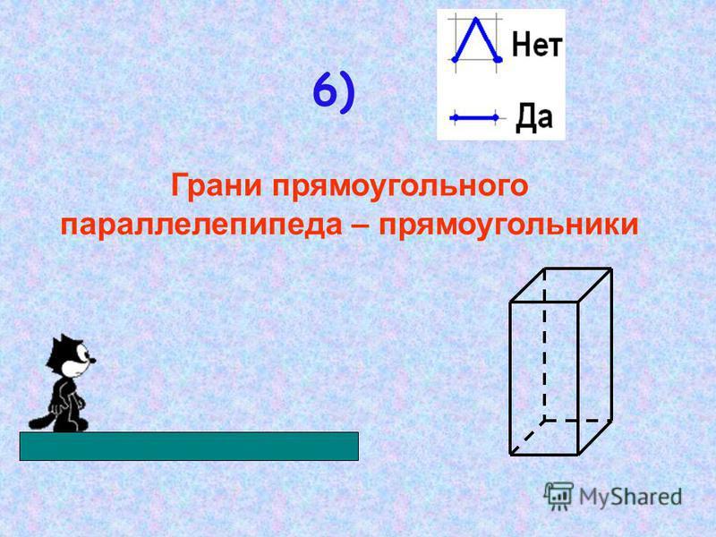 5) Площадь поверхности куба вычисляется по формуле: S=6a 2, где a – длина ребра.