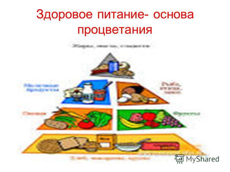Здоровое питание- основа процветания
