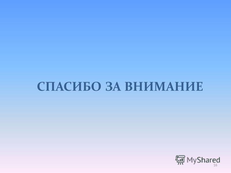 СПАСИБО ЗА ВНИМАНИЕ 16