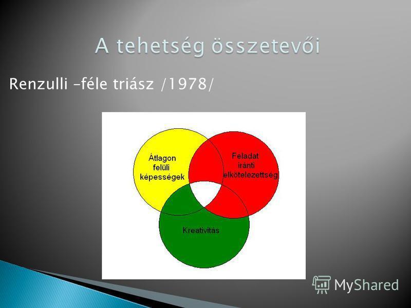 Renzulli –féle triász /1978/