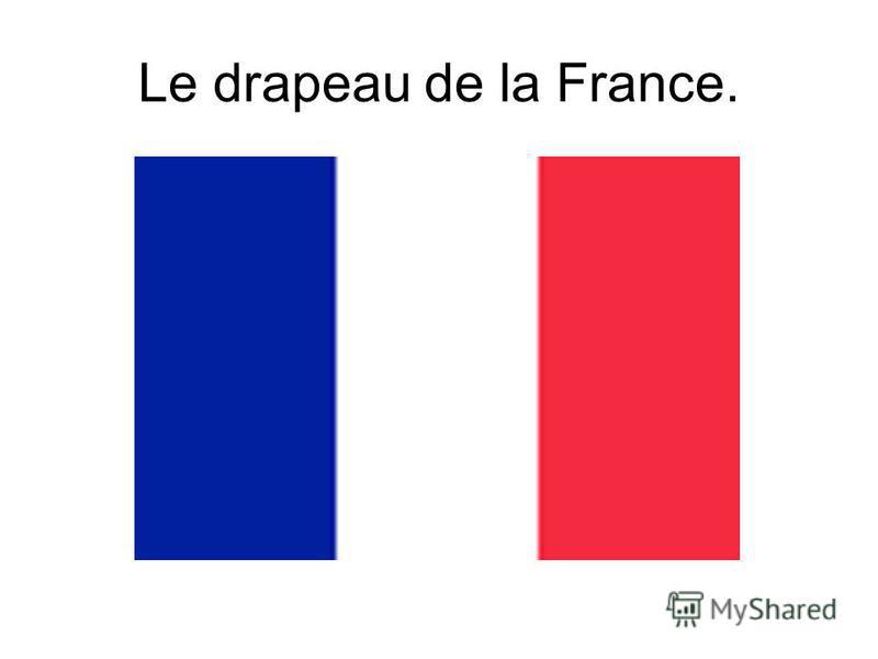 Le drapeau de la France.