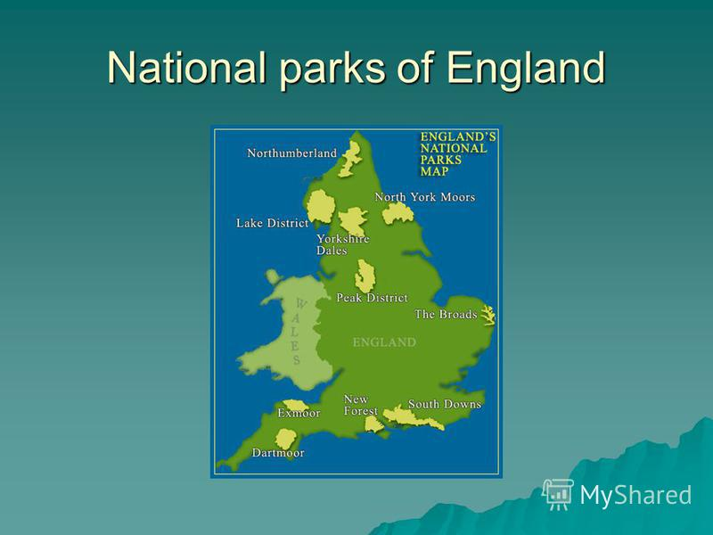 National parks of England
