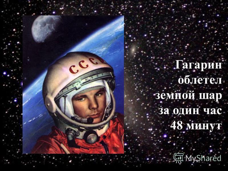 Гагарин облетел земной шар за один час 48 минут