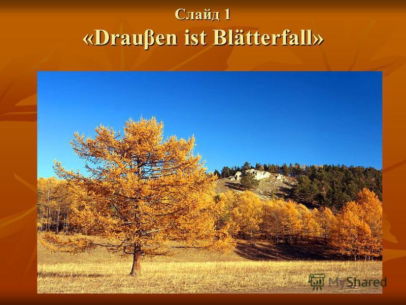 Слайд 1 «Drauβen ist Blätterfall»