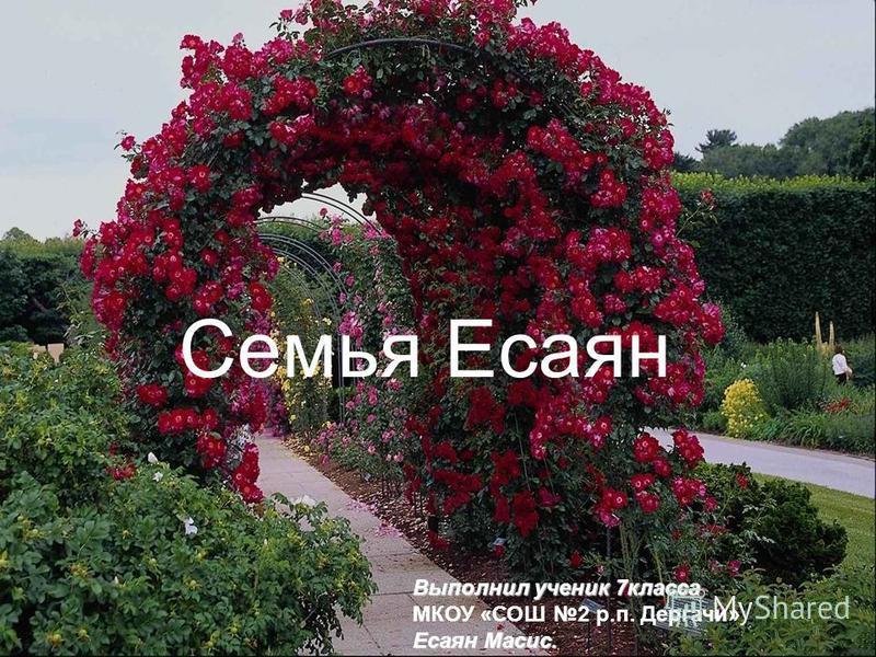 Free Powerpoint Templates Page 1 Семья Есаян Выполнил ученик 7 класса МКОУ «СОШ 2 р.п. Дергачи» Есаян Масис.