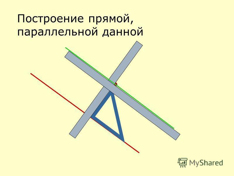 Построение прямой, параллельной данной