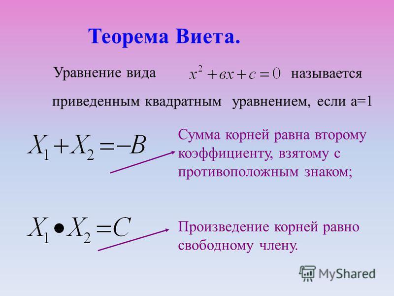 Примеры решения квадратных уравнений по формуле: Пример 3: -2 х²+3 х-5=0 а=-2; в=3;с=-5. D=3²-4*(-2)*5=9-40=-31<0 – уравнение не имеет корней.