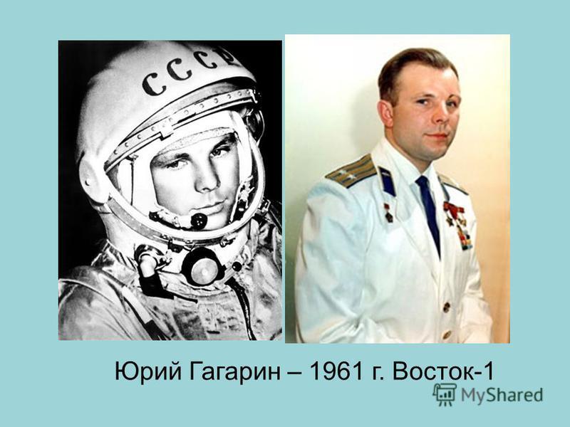 Юрий Гагарин – 1961 г. Восток-1