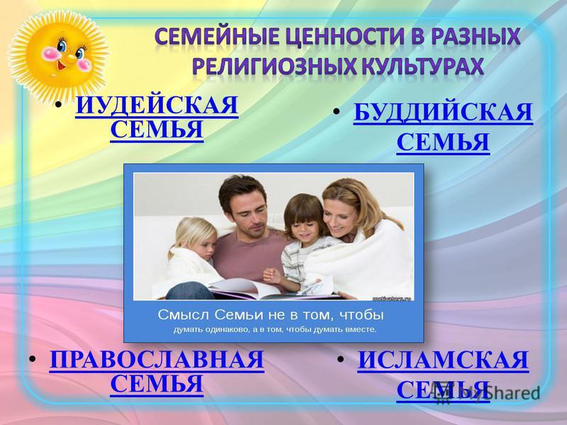 ИУДЕЙСКАЯ СЕМЬЯ ИУДЕЙСКАЯ СЕМЬЯ ПРАВОСЛАВНАЯ СЕМЬЯ ПРАВОСЛАВНАЯ СЕМЬЯ БУДДИЙСКАЯ СЕМЬЯ БУДДИЙСКАЯ СЕМЬЯ ИСЛАМСКАЯ СЕМЬЯ ИСЛАМСКАЯ СЕМЬЯ