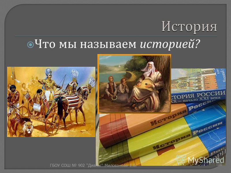 Что мы называем историей ? ГБОУ СОШ 902  Диалог  Милованова Е. Б.