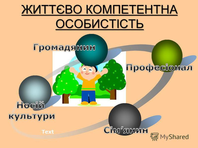 ЖИТТЄВО КОМПЕТЕНТНА ОСОБИСТІСТЬ Text