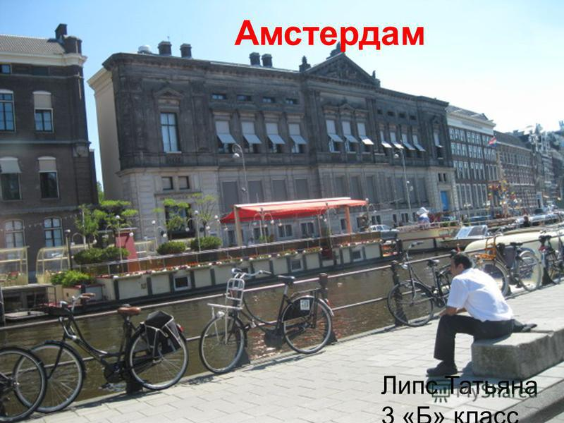 Амстердам Липс Татьяна 3 «Б» класс Амстердам Липс Татьяна 3 «Б» класс