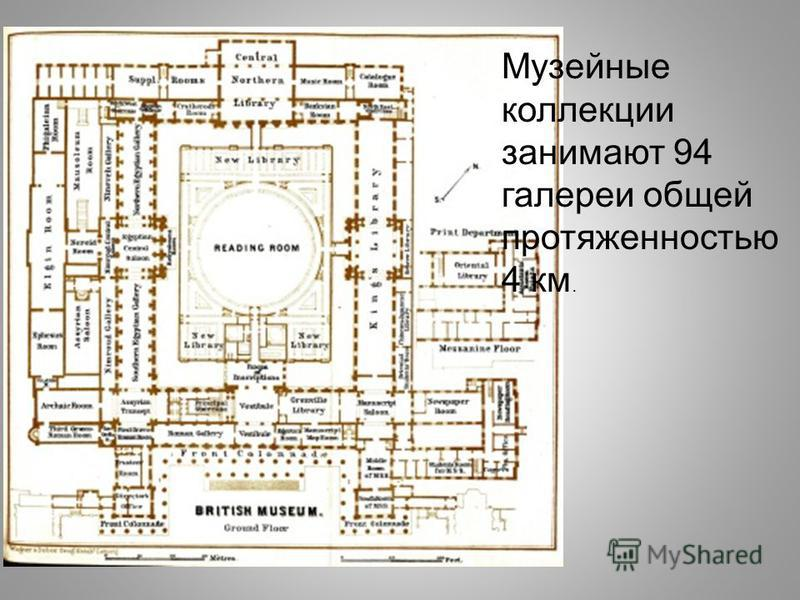 Музейные коллекции занимают 94 галереи общей протяженностью 4 км.