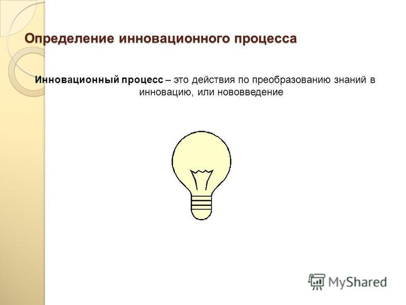 Определение инновационного менеджмента Инновационный менеджмент представляет собой совокупность принципов, методов и форм управления инновационными процессами