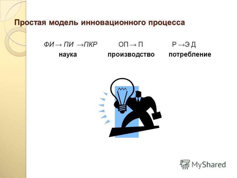 Инновационный процесс – это творческий процесс создания и преобразования научных знаний в новую продукцию, признаваемую потребителями